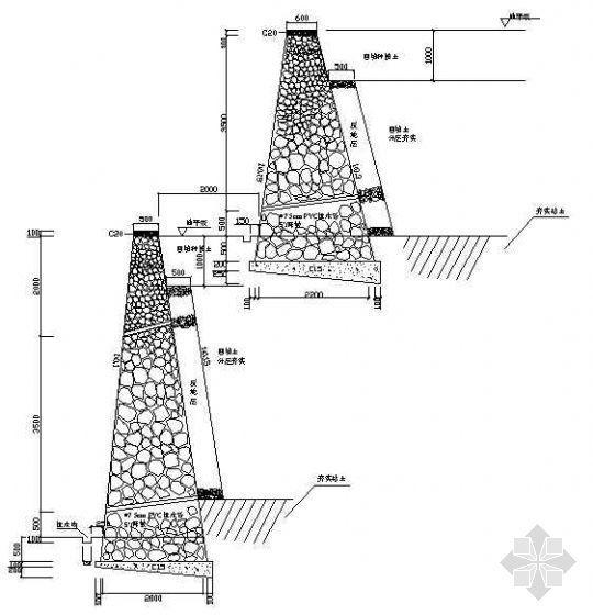 挡墙断面设计图(2)