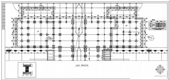 某铁路南站站房综合楼结构图