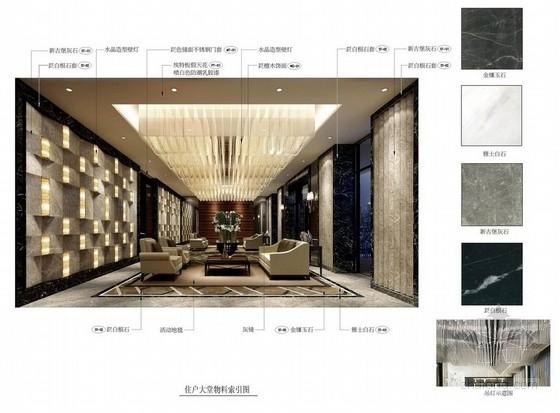 [天津]名师设计后现代样板间室内设计方案图