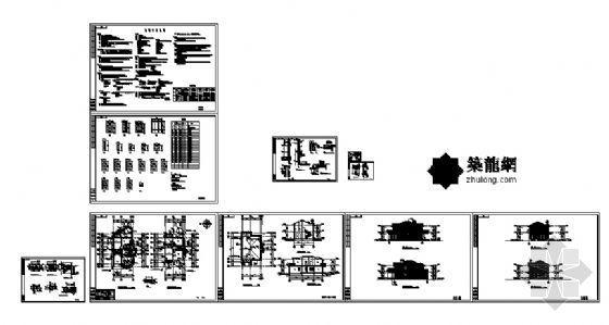 某二层别墅建筑、结构图纸-4