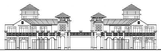 [欧陆式]某商业街建筑方案图