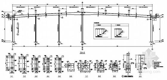 24米跨钢结构厂房刚架节点详图