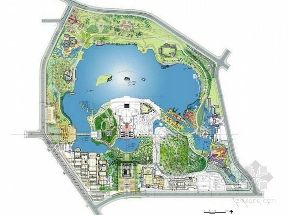 [西安]盛唐风貌大型皇家园林主题公园景观设计方案