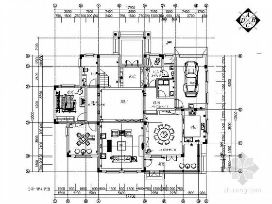[芜湖]欧式豪华大气二层复式样板间室内设计施工图
