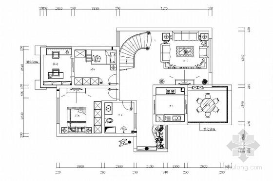 独栋雅居田园风格两层别墅装修图(含效果图)