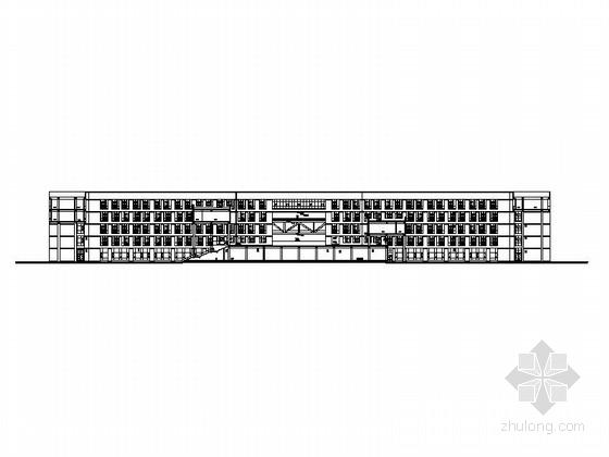 [湖北]大学基地石油科技中心建筑施工图(知名设计院)