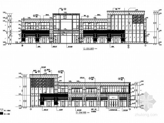 [郑州]两层框架结构小城售楼部建筑结构施工图