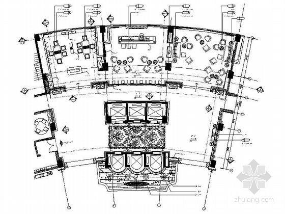 [重庆]高档四星级酒店大堂吧及电梯厅装修图