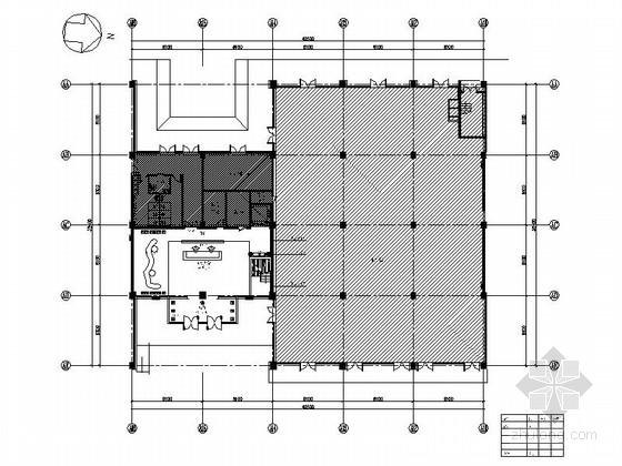[北京]建筑工程企业集团现代办公楼装修图(含效果)