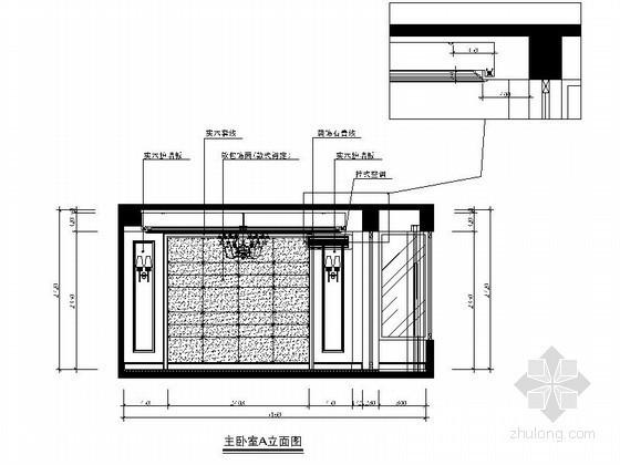 [温州]某简约四居室主卧立面图