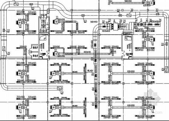 [大连]商住别墅楼采暖通风设计施工图(地面辐射采暖)