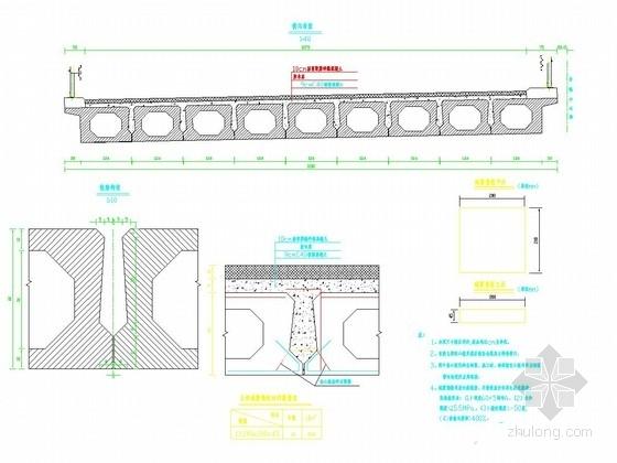 2×10m预应力混凝土简支空心板桥全套施工图设计35张