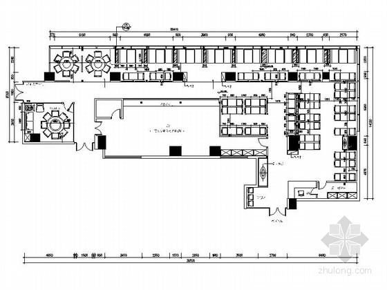 现代时尚餐厅设计装修施工图(含效果)