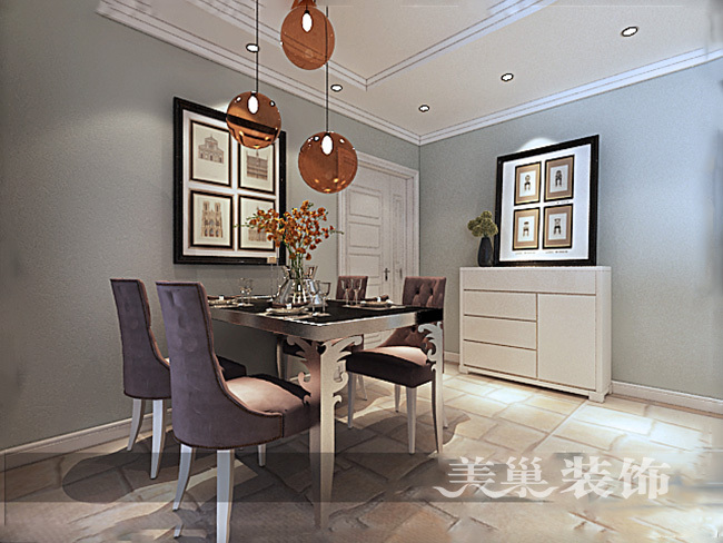 中海锦苑129平三室两厅装修效果图唯美轻美式_4