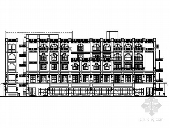 [重庆]某商业广场五层欧式商业建筑施工图(7号楼)
