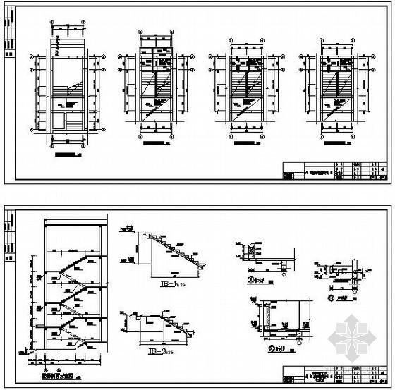某砌体结构宿舍楼楼梯节点构造详图