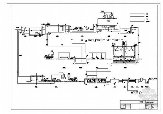 uasb处理工艺图资料下载-某肉类食品废水处理工艺图