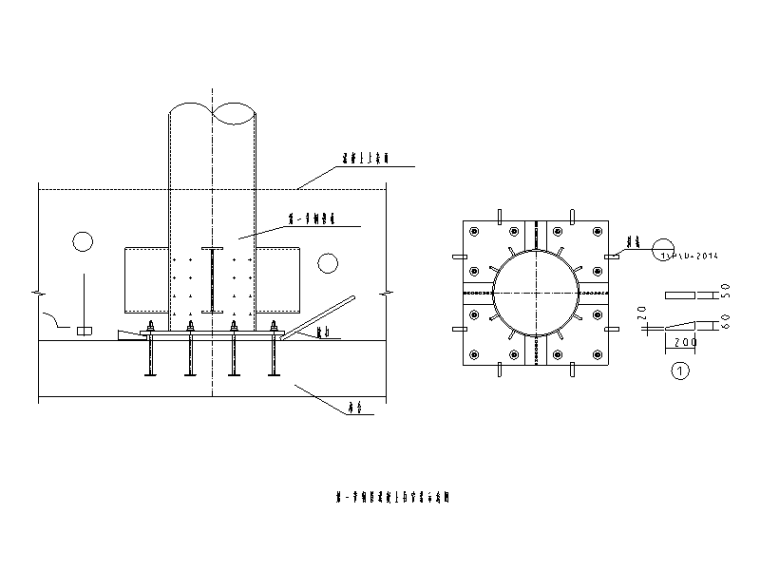 钢管混凝土柱大样及连接节点详图