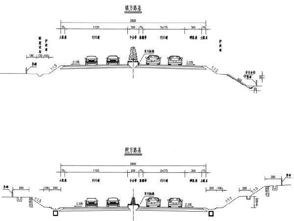 省道改扩建工程路基路面施工图设计192页(SBS改性沥青)