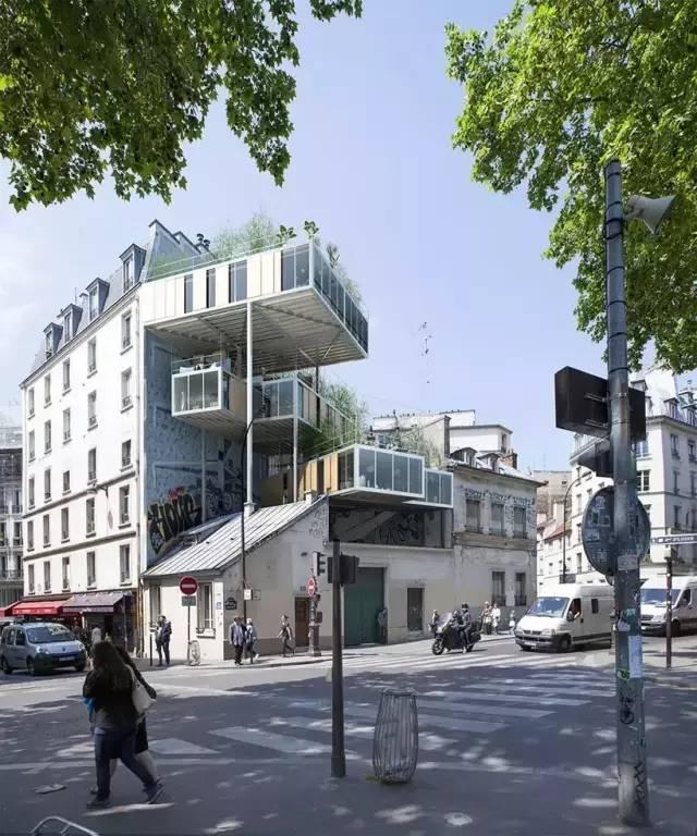 屋顶组合式住房单元