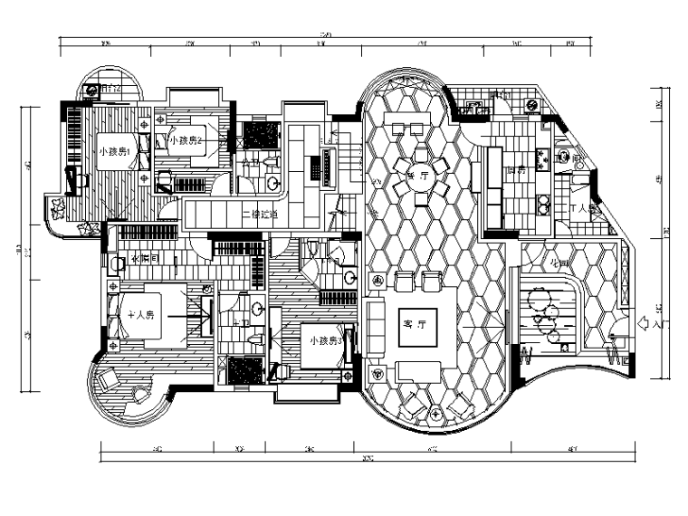 [陕西]西安某现代风格别墅设计CAD施工图(含效果图)