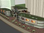 万达商业街方案SU模型