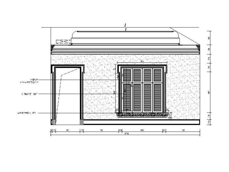 [重庆]欧式别墅风格建筑CAD施工图(含效果图)su2007cad是图片