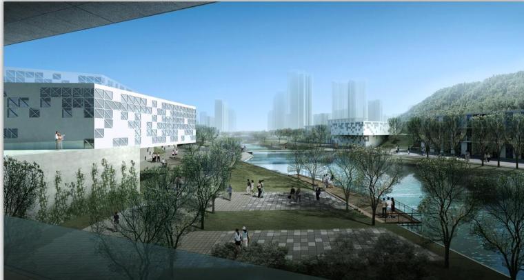 [广东]某城市规划展览馆建筑方案设计(CAD+文本).zip