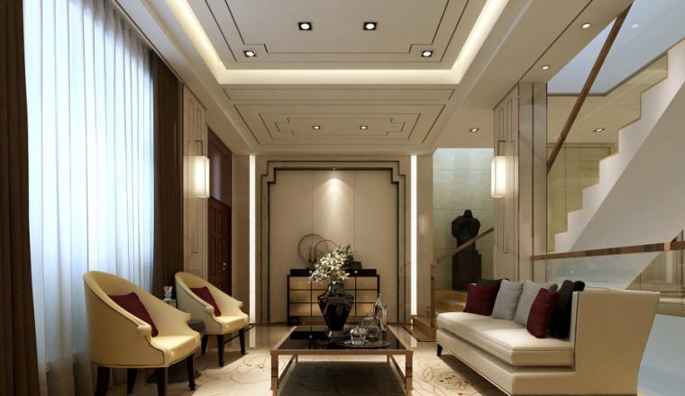中式风格三层别墅CAD施工图、3D模型(含效果图、实景图)效果图