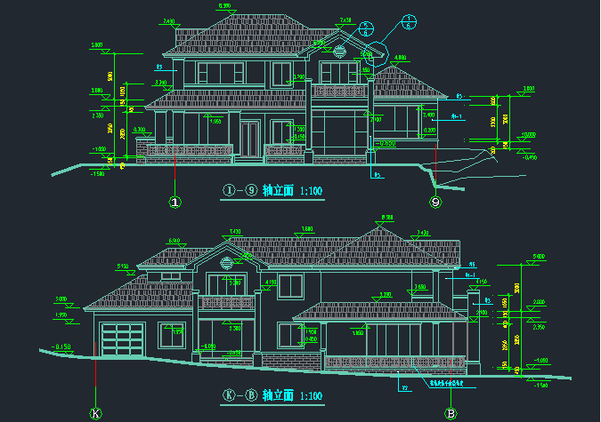 [分享]新城别墅别墅施工图资料下载图纸私家天河二层珠江广州图片