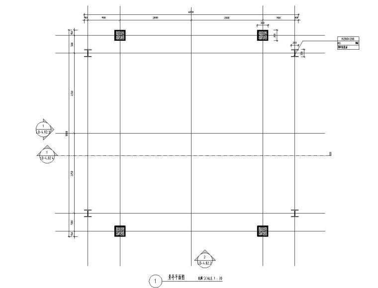 正方形廊架设计详图