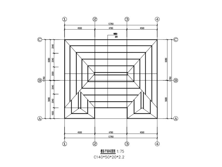 14米x12米二层钢框架别墅设计图纸