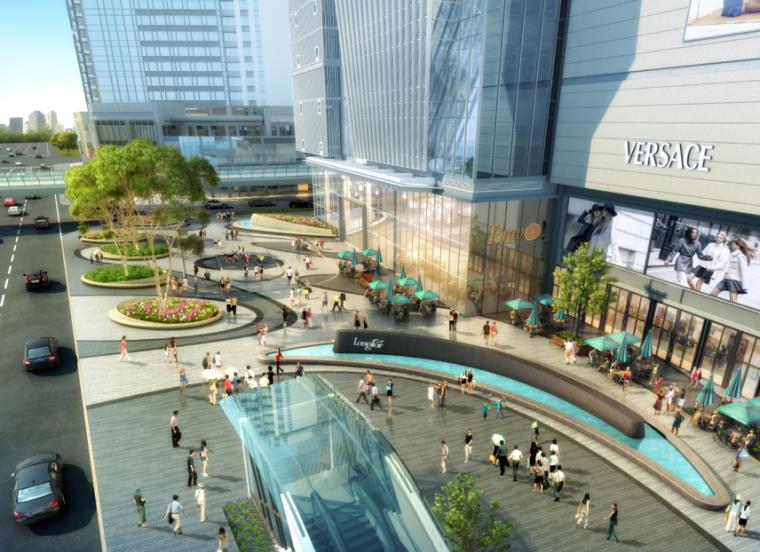 [四川]龙湖紫宸商业项目景观设计方案 A-3 地铁口广场