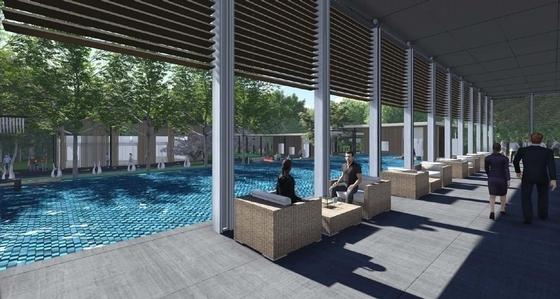 [杭州]未来高品质居住区规划设计方案-样板区景观效果图
