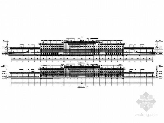 大型汽车客运站站房及站台雨棚结构设计招标图(含建筑图)