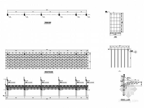轻钢结构中学体育场看台挑棚结构图