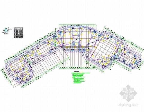 [浙江]10米深基坑排桩加两道内支撑支护施工图
