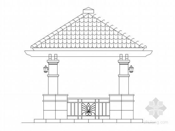 中式现代四角景亭施工做法详图