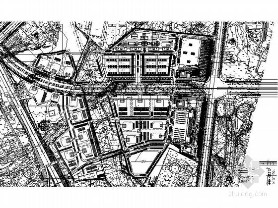 [江西]现代风格国际汽车城销售中心规划设计方案文本-现代风格国际汽车城销售中心竖向布置图