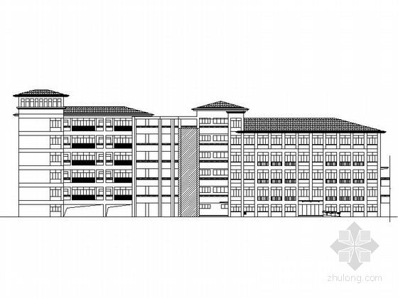 [江苏]6层现代风格中学教学楼建筑施工图