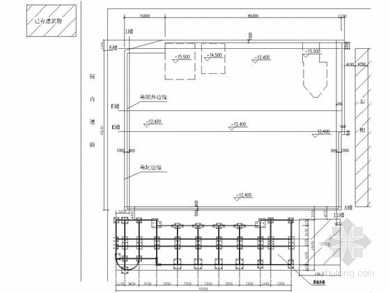 [山东]病房楼双排桩支护深基坑设计图纸(锚索 降水井)