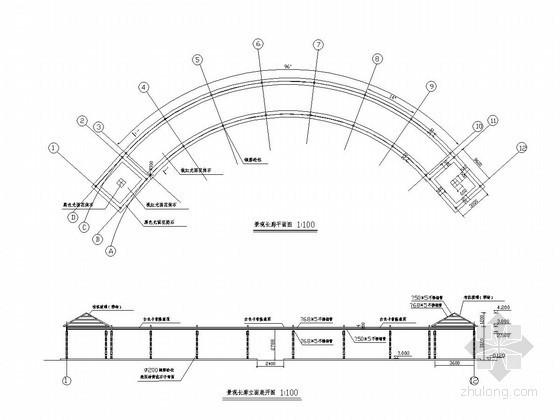 [浙江]景观长廊施工图