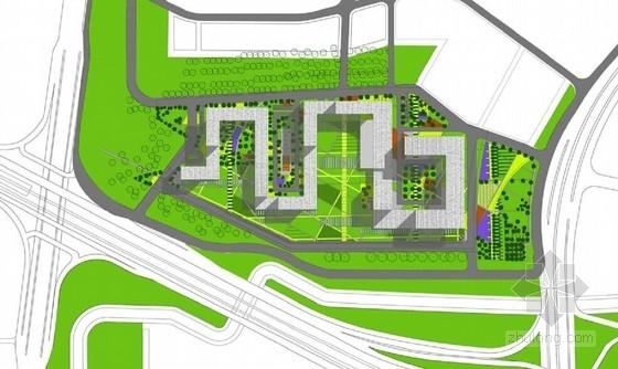 130米超高层城市综合体设计总平面图
