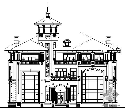 某三层别墅建筑方案图