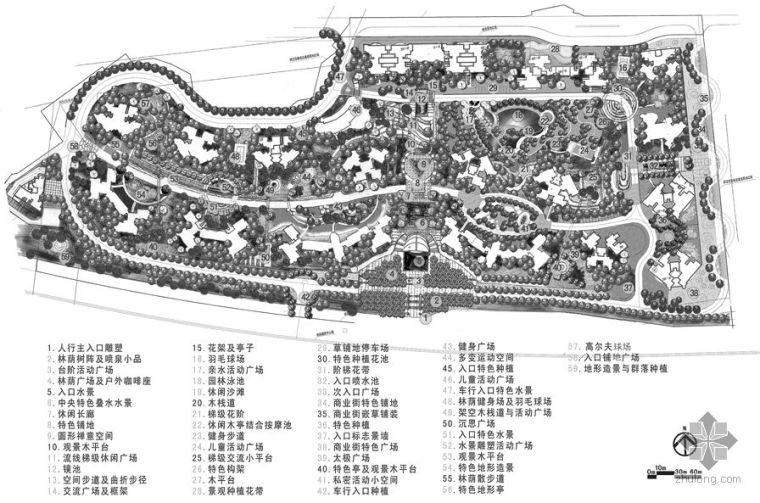 重庆小区景观设计文本(手绘)