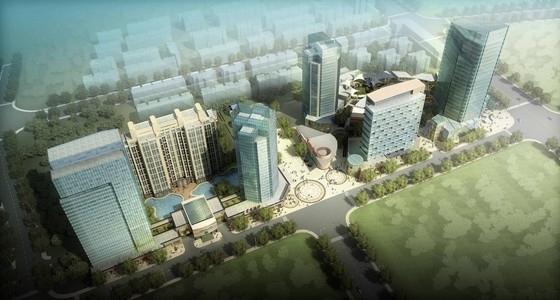 [上海]现代风格玻璃幕墙城市综合体建筑设计方案文本