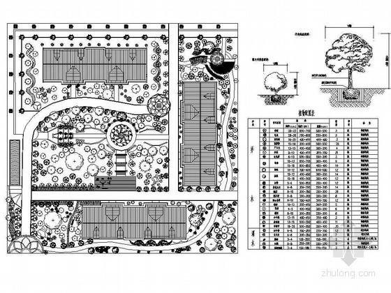 乐山某小区绿地景观设计施工图