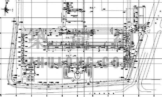 冷轧厂厂区道路工程平面布置图