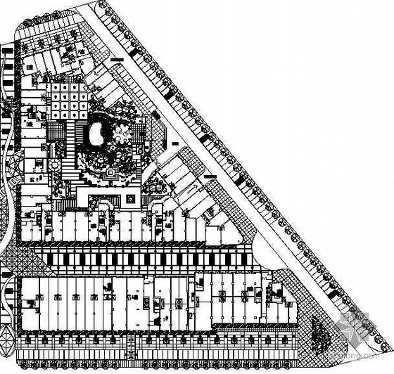 广东深圳某商业区东区外环境景观设计施工图