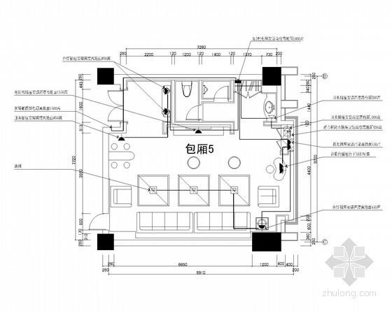 KTV三层5号包厢灯具连线图